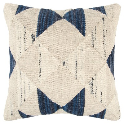 Rizzy Home Geometric Throw Pillow Indigo