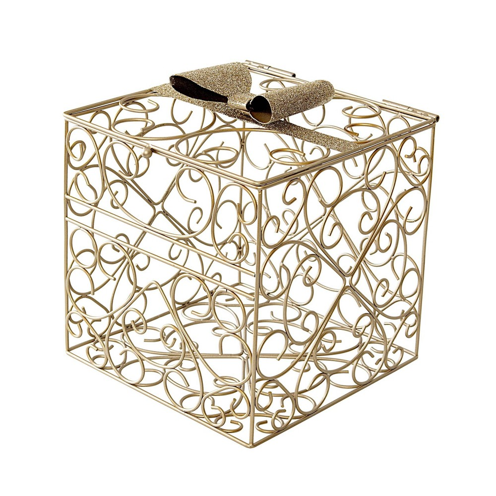 Image of Bow Reception Gift Card Holder Gold