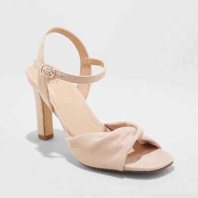 Women's Tawnie Twist Front Heeled Pumps   A New Day™ by A New Day