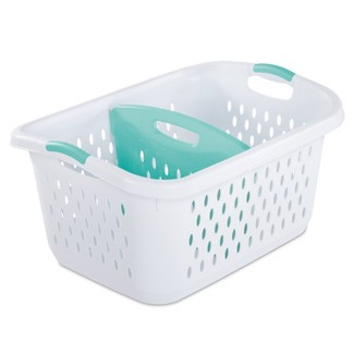 Laundry baskets 2.2 Bushel Divided Laun White - Sterilite