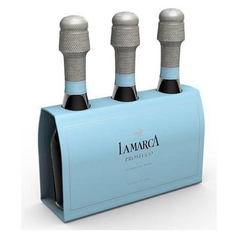 La Marca Prosecco Sparkling Wine - 3pk/187ml Mini Bottles - image 1 of 3