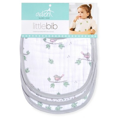 Aden + Anais Little Bib 3pk Girl Songbird