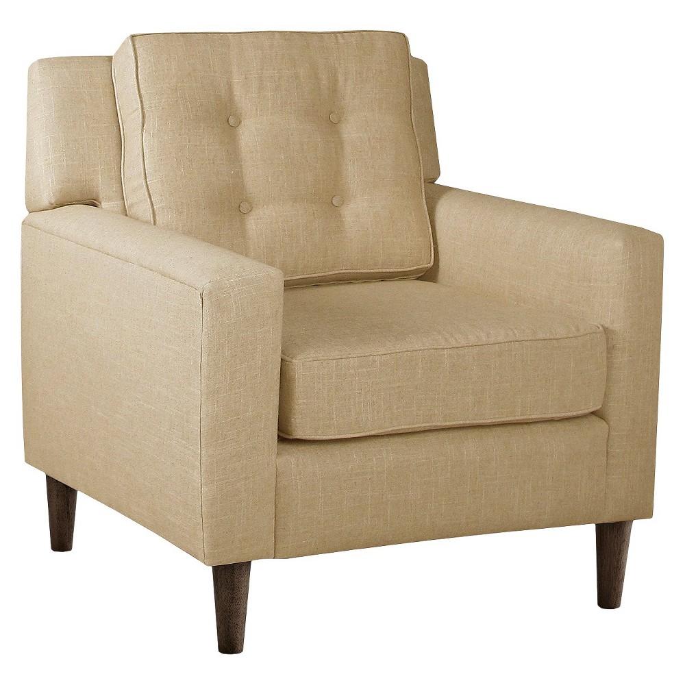 Skyline Custom Upholstered Arm Chair - Skyline Furniture, Linen Sandstone