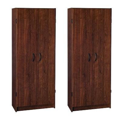 ClosetMaid 1308 Freestanding Organization Pantry Cabinet, Dark Cherry (2 Pack)