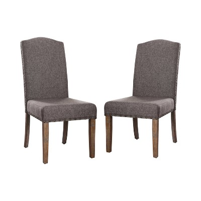 Set of 2 Silva Cushioned Wood Dining Chair Gray - HOMES: Inside + Out