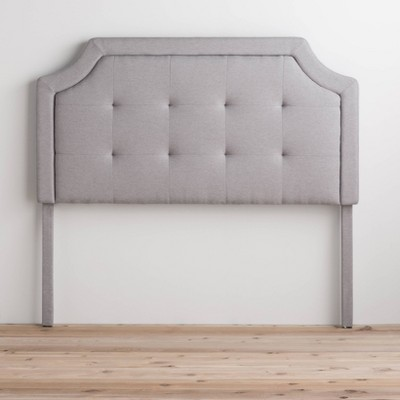 Upholstered Scoop-Edge Headboard with Square Tufting - Brookside Home