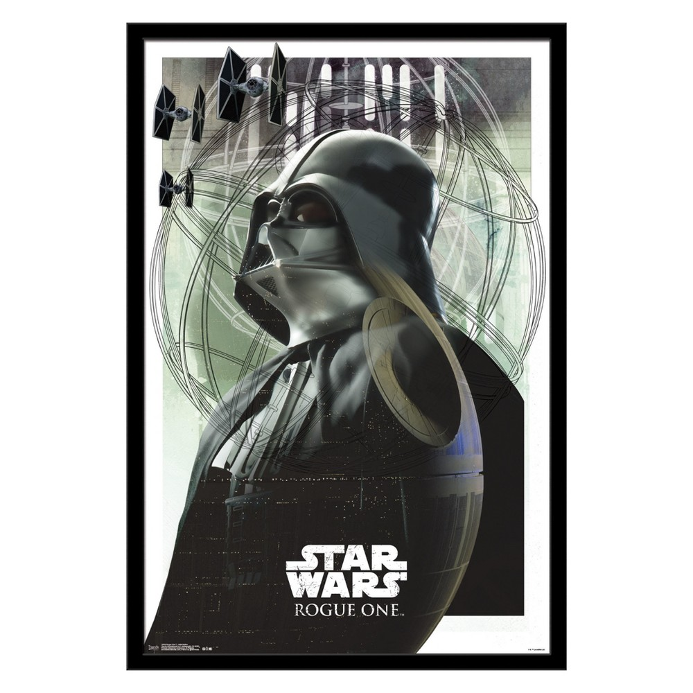 Image of Trends International Star Wars Rogue One: A Star Wars Story Intimidation Framed Poster, Multi-Colored