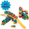 ECR4Kids Train Station Interlocking Waffle Blocks Building Set, STEM Toy for Kids, 433 Piece - Assorted - image 4 of 4