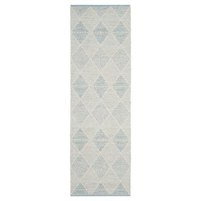 Light Blue Geometric Woven Runner - (2'3 X7' Runner)- Safavieh®