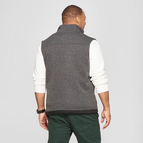 Mens Big Tall Sweater Fleece Vest Goodfellow Target