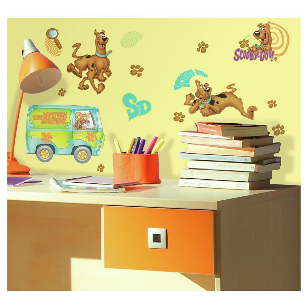 RoomMates Scooby Doo Peel & Stick Wall Decals, Multi-Colored