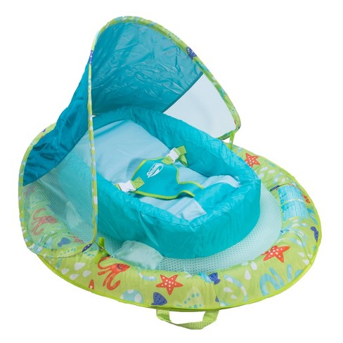 Swimways Infant Baby Spring Float with Canopy - Green - image 1 of 4