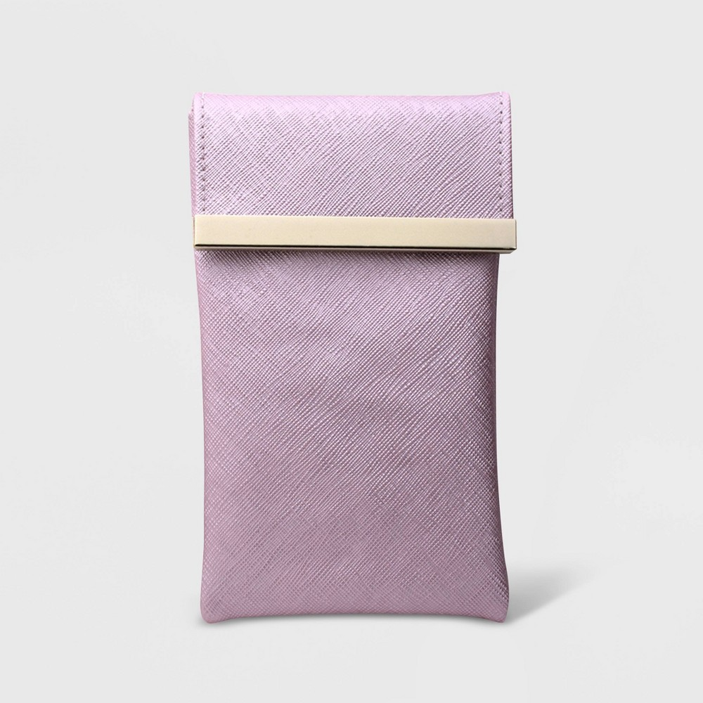 Women's Soft Metal Case With Bar Flap Closure - A New Day Lilac (Purple)
