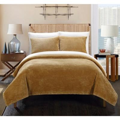 3pc King Marrakesh Blanket Set Camel - Chic Home Design