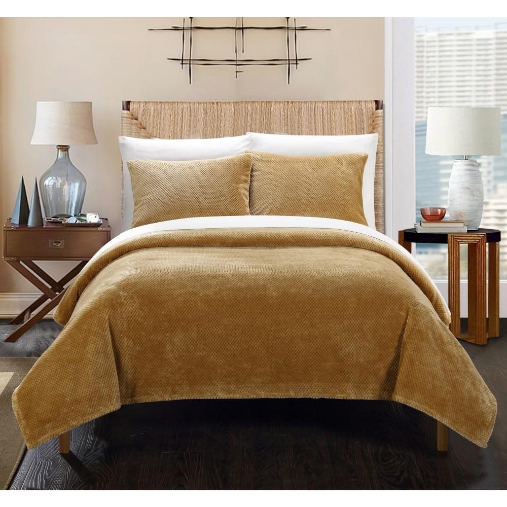 Image of 3pc Full/Queen Marrakesh Blanket Set Camel - Chic Home Design