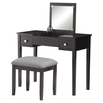 Kayden Vanity Set Black - Linon