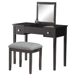 Linon Kayden Vanity Set - Black