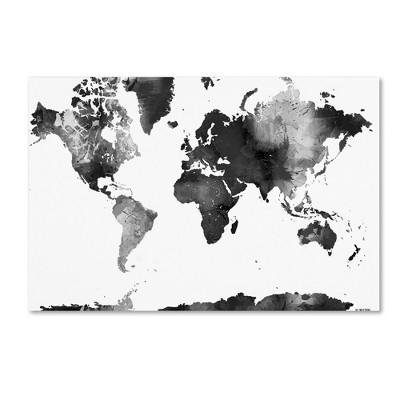 Unframed Wall Canvas Trademark Fine Art 33 X 27 X 3 - Black
