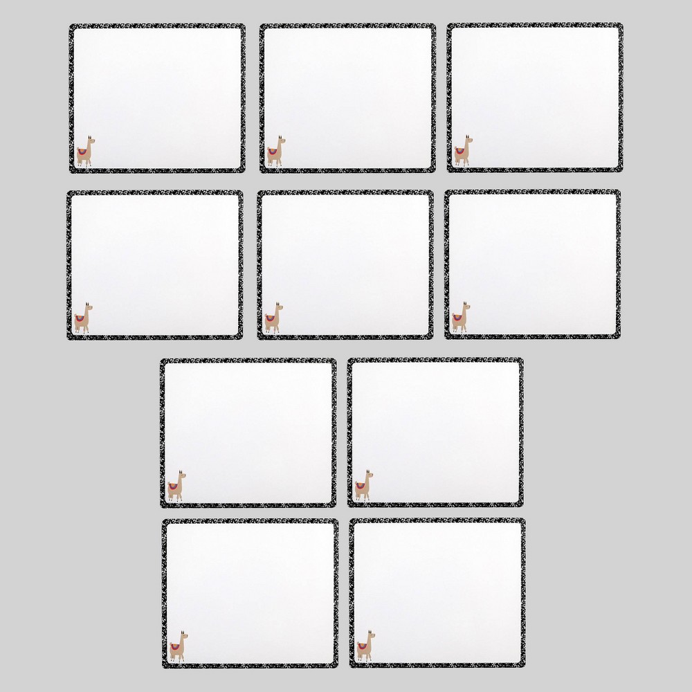 10pk Llama Dry Erase Boards - Bullseye's Playground was $10.0 now $5.0 (50.0% off)