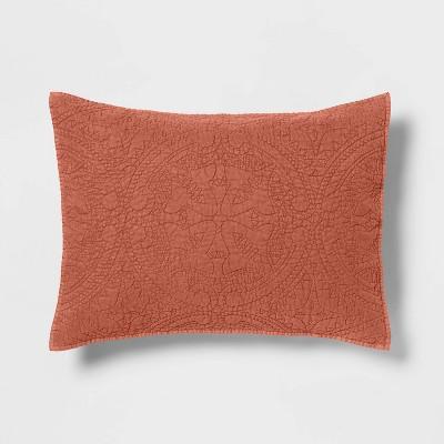 Standard Medallion Stitch Sham Bronze - Opalhouse™