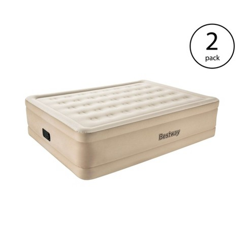 """Bestway Fortech 20"""" Inflatable Queen Airbed Built-In Pump Air Mattress (2 Pack) - image 1 of 4"""