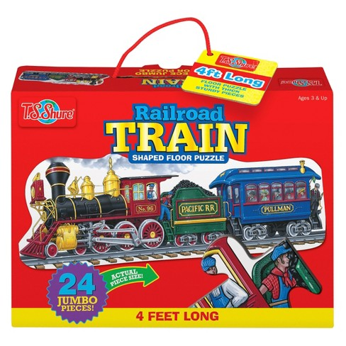 Railroad Train 24pc Floor Puzzle - image 1 of 2