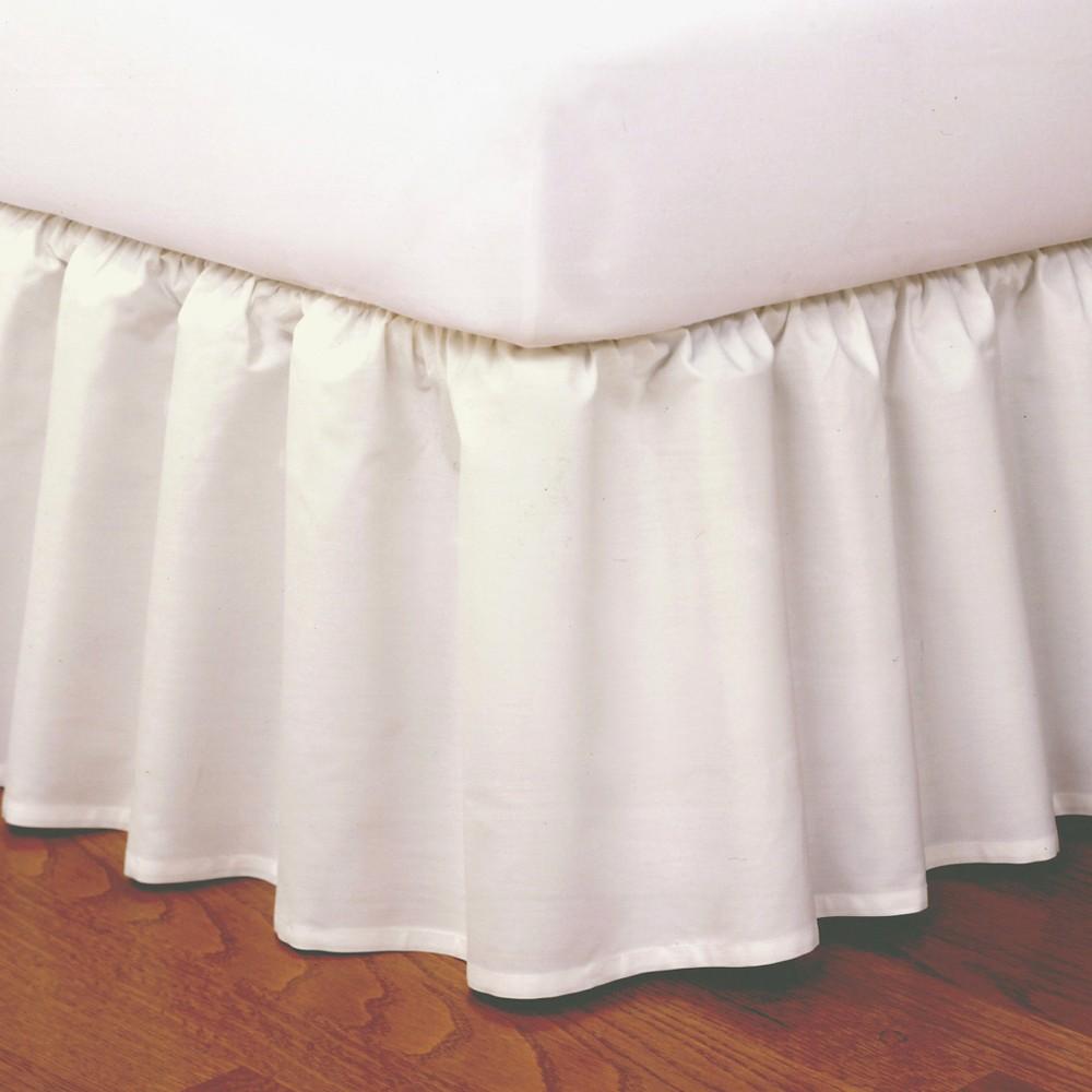 Image of Magic Skirt Wrap-around Ruffled Bed Skirt - Ivory (Queen)