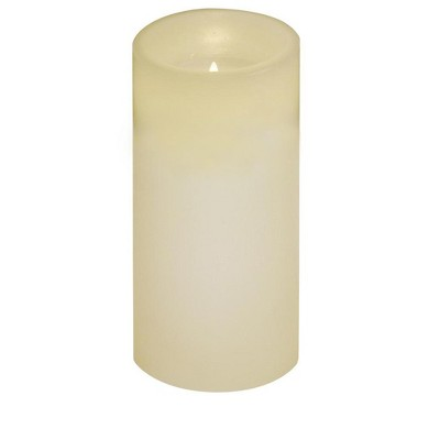 Brite Star Set of 10 Ivory Battery Operated Flameless LED Lighted Flickering Wax Christmas Pillar & Tea Light Candles