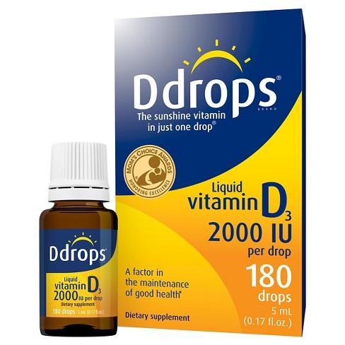 Ddrops Vitamin D Liquid Drops 2000 IU - 5ml - image 1 of 4