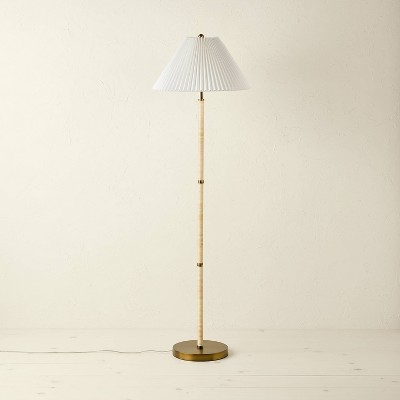 Rattan Wrapped Floor Lamp Brown (Includes LED Light Bulb) - Opalhouse™ designed with Jungalow™