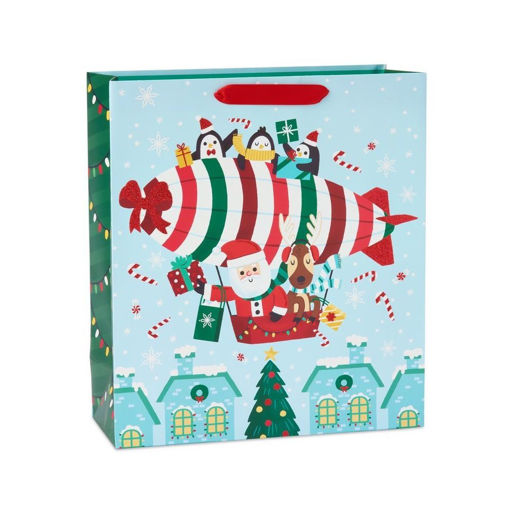 Papyrus Traveling Santa Jumbo Gift Bag, Multi-Colored