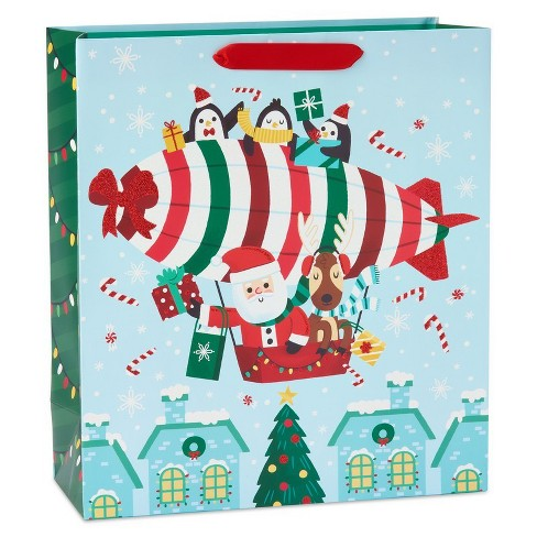 Papyrus Traveling Santa Jumbo Gift Bag - image 1 of 4