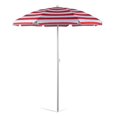 Oniva Portable Beach Stick Umbrella Cabana Stripe - Red