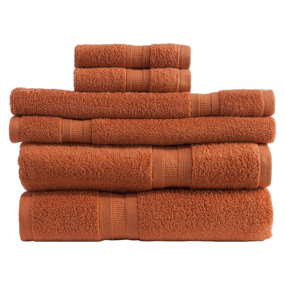Image of Micro Cotton Aertex 6-pc. Towel Set - Paprika (Red)