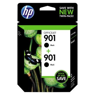HP 901 Officejet 2pk Ink Cartridge - Black (CZ075FN#140)