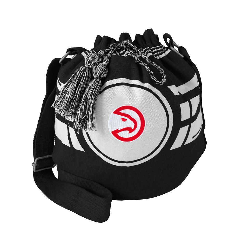 NBA Atlanta Hawks Ripple Drawstring Bucket Bag, Adult Unisex
