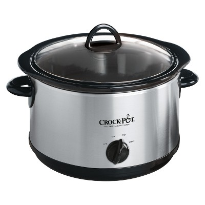 Crock-Pot 4.5qt Manual Slow Cooker - Silver SCR450-S