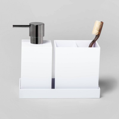 3pc Plastic Bath Coordinate Set White - Project 62™