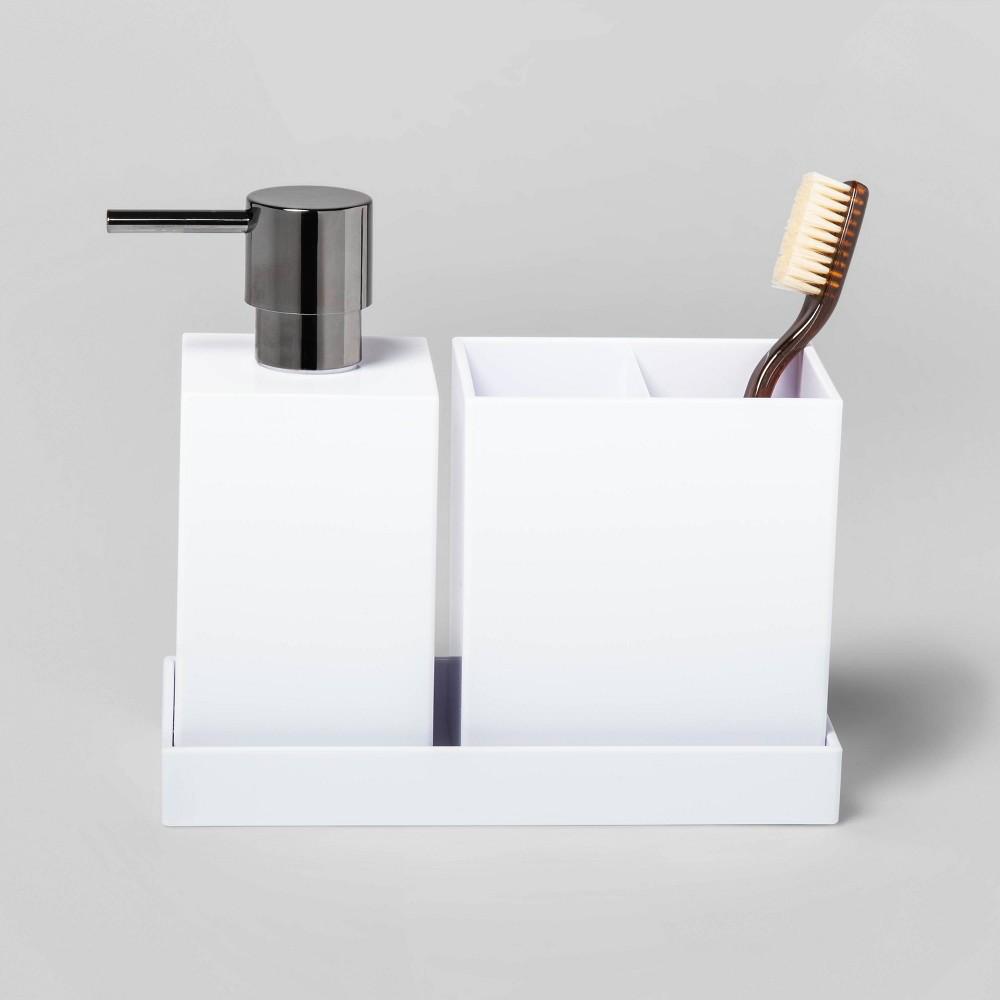 Image of 3pc Plastic Bath Coordinate Set White - Project 62