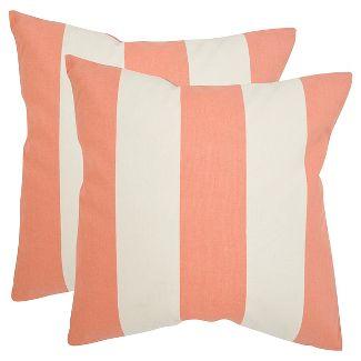 """Orange Set Throw Pillow (18""""x18"""") - Safavieh®"""