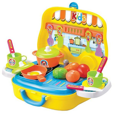 Little Moppet Carry And Play Cookware Kitchen Pretend Playset In Wheeled Case 26 Pieces Target