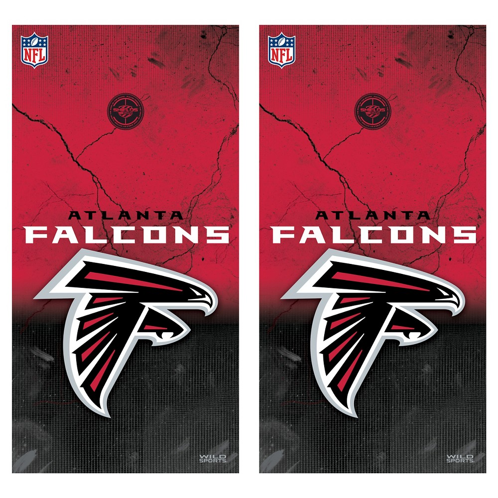 Atlanta Falcons Wild Sports Vinyl Cornhole Shield Wrap Set - 2 x 4 ft.