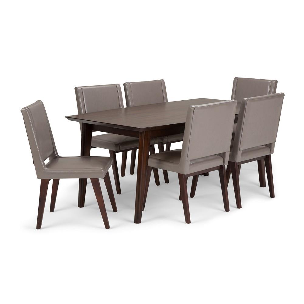 7pc Tierney Solid Hardwood Mid Century Dining Set Wyndenhall