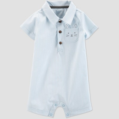 Baby Boys' Striped Bunny Romper - Just One You® made by carter's Blue 3M