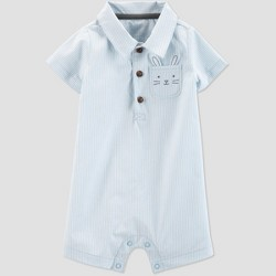 d914a229f Baby Boys' Striped Bunny Romper - Just One You® made by carter's Blue