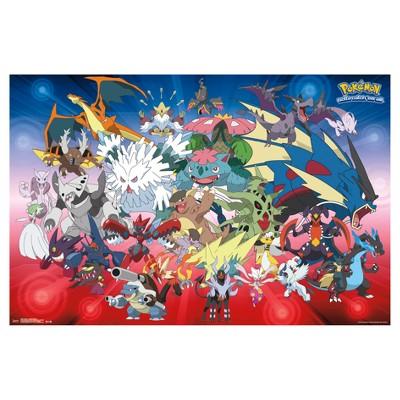 Pokemon Mega Evolutions Poster 34x22 - Trends International