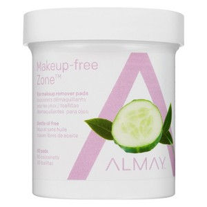 Almay Makeup-Free Zone Eye Makeup Remover Pads Oil Free - 80ct