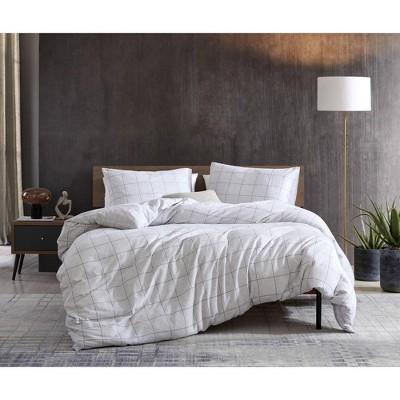 Kenneth Cole New York Holden Grey Grid Comforter-Sham Set
