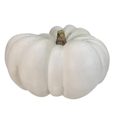 """Northlight 14"""" White Pumpkin Halloween Statue"""