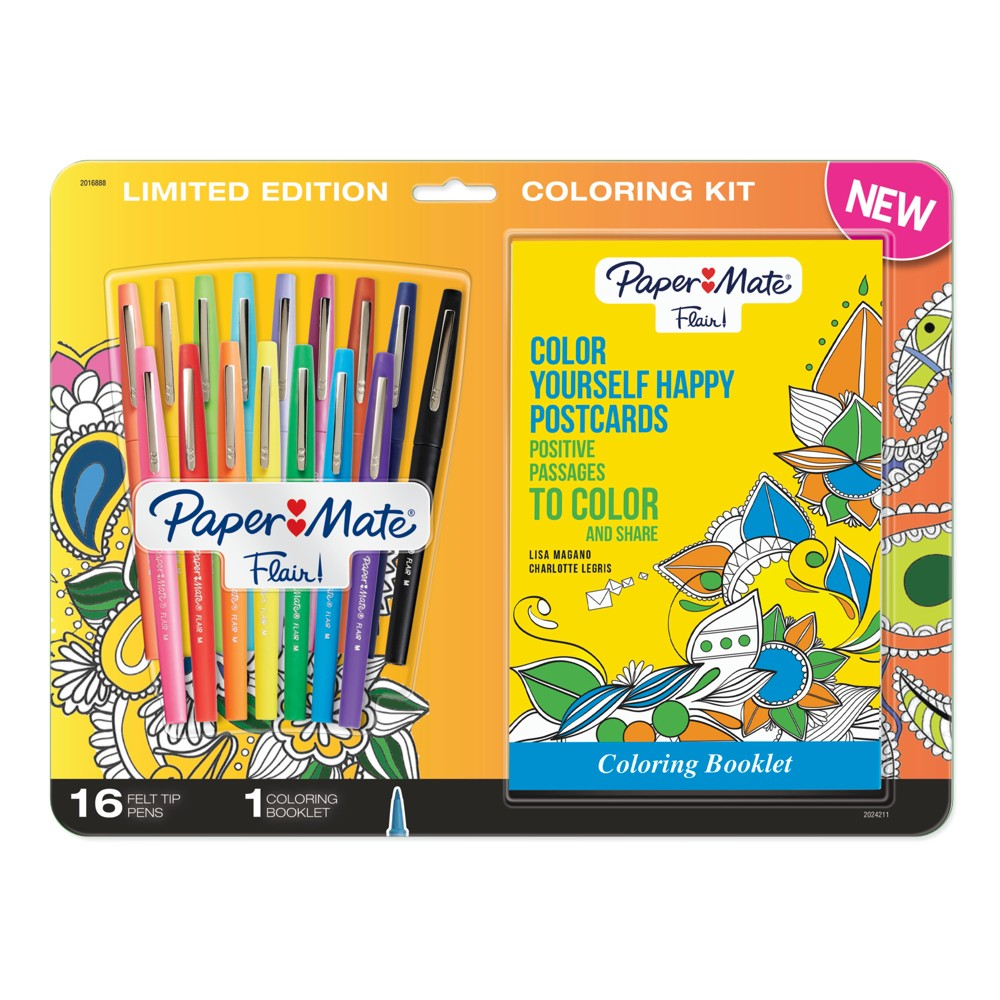 Paper Mate Flair Coloring Kit 17pc